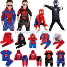 Spiderman Trainingsanzug Sweatshirt Outfits Set Kinder Jungen Cosplay Kostüm DE