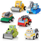 6PCS Kids Mini Car Engineering Vehicle Fire Truck Series Model Toy Pull Back Car
