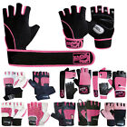 Women Ladies Leather Gym Weight Lifting Gloves Training Fitness Body Building