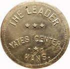The Leader Yates Center, Kansas KS 50¢ Trade Token