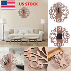 22cm Large Wooden Grain Style Tree Shaped Wall Clock Living Room Home Decor Gift