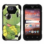 For ZTE Maven / Fanfare / Scend Dual Layer Hybrid Kickstand Fitted Case Cover