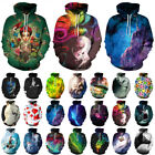 2018 3D Print Men Women's Long Sleeve Hoodies Pullover Jumper Sweatshirt Tops