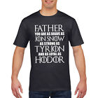 Father Brave as Jon Snow T Shirt Mens Fathers Day Dad T-Shirt Gift Hodor 801