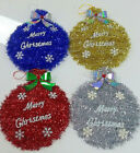 TINSEL TIME Christmas Small Tinsel Bauble Decoration: Blue, Red, Gold or Silver