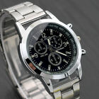 New Luxury Men's Stainless Steel Quartz Analog Wrist Watch Sport Watches Fashion
