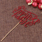 1 Pc Dazzling Happy Birthday Letter Insert Card With Stick Cake Topper Decor