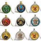 1pc Bronze Harry Potter Gryffindor Slytherin Hufflepuff Pendant Necklace Jewelry