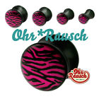 Lila / Rosa Zebra Rockabilly Purple Acryl Plug  / Tunnel - SONDERPREIS -  4-20mm