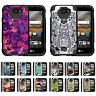 For LG K3 Dual Layer Hybrid Kickstand Fitted Case Cover