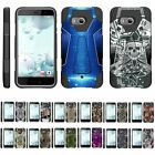 For HTC U11 / HTC Ocean Dual Layer Hybrid Shell Kickstand Fitted Case Cover