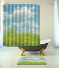72x72'' Sunny Easter Day Bathroom Waterproof Fabric Shower Curtain & Mat 1518