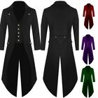 Men's Coat Fashion Steampunk Vintage Tailcoat Jacket Gothic Victorian Frock Coat