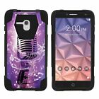 For Alcatel One Touch Fierce XL Dual Layer Hybrid Shell Kickstand Fitted Case