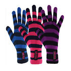 Ladies Extreme Hot GUARANTEED WARMTH Stripe Thermal Insulated Gloves - 4 Colours