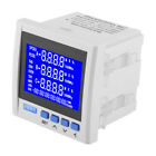 3-Phase LCD Digital Multifunction Power Meter Energy Monitor RS485 V A Hz Q P