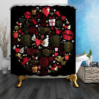 Love Collection For Valentine's Day Bathroom Fabric Shower Curtain 71Inches