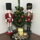 Brand New Hand Painted Nutcracker Soldier Display Christmas Decoration - 38 cm