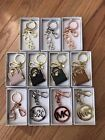 NWT Michael Kors Key Fob Keychain Hanging Charm (select from drop down menu)