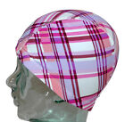 CHEX Polyester Lycra Stretchy Elasticated Swimming Hat Cap Circles Hearts Check