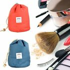 Travel Makeup Drawstring Pouch Bucket Barrel Shaped Cosmetic Case Bag