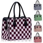 Womens Handbag In Sale Tote Shoulder Designer Ladies Faux Leather Bag Check New