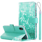 BENTOBEN For iPhoneX Card Slot Wallet Case Glitter Shockproof Leather Flip Cover