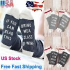 Women Mens Funny Socks If You can read this Bring Me a Glass of Wine Beer Socks