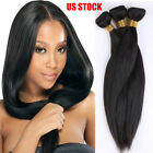 Brazilian Indian Virgin Human Hair 3 Bundles Weave Extensions Body Wave Straight