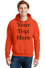 NEW PERSONALIZED CUSTOM PRINT YOUR OWN TEXT HOODED SWEATSHIRT HOODIE CUSTOMIZED