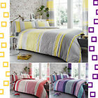 Charter Stripe New Polycotton Luxury Printed Duvet Quilt Cover+Pillow Case (255)