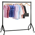 3 4 6 FT Garment Rail Clothes Home Shop Hanging Display Rack Stand Indoor & Out