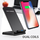 10W Wireless QI Fast Charger Charging Stand Holder For iPhone X iPhone 8 /8 Plus