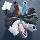 Women's Outdoor Martin Ankle Boots Winter Waterproof Work Casual Lace up Shoes