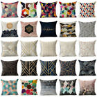 Abstract Geometric Cotton Linen Throw Pillow Case Sofa Cushion Cover Home Decor