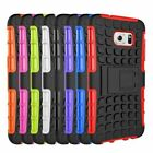 BACK COVER CASE FOR SAMSUNG GALAXY S7 EDGE HEAVYDUTY RUBBER WITH STAND HARD CASE