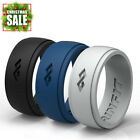 Mens Silicone Wedding Ring / Wedding Band - 3  Rubber Rings Pack - Rinfit