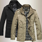 Fashion Mens Jacket Warm spring Casual Coat Overcoat Outwear Black Military New