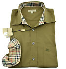 $275 BURBERRY London Military Green Casual Dress Mens Shirt NEW COLLECTION