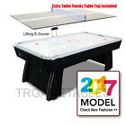 2018 New Air Hockey Table for Game Room Kids - 7FT with Table Tennis Top White