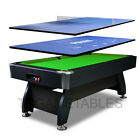 7FT Timber / MDF Pool Table with Poker & Table Tennis Top for Snooker Billiards $578.99 AUD on eBay