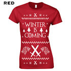 360 Winter is Coming Womens T-Shirt stark funny thrones ugly christmas sweater