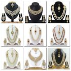 Indian Bollywood Bridal Gold Plated Necklace Earrings Fashion Wedding Jewelry
