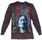 New The Mountain Sitting Bull by Dean Russo Long Sleeve Native American Shirt