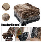 Super Soft Warm Breathable Faux Fur Plush Fleece Blanket Throw Rug Sofa Bedding image
