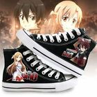 online shopping for football shoes - Sword Art Online Anime Shoes Kirito and Yuuki Asuna Cosplay Unisex Canvas Shoes