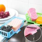 IK- Cutlery Sponge Drainer Kitchen Sink Bathroom Drying Rack Organizer Storage F