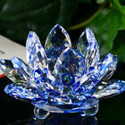 Lotus Crystal Glass Figure Paperweight Ornament Feng Shui Decor Collection NEW