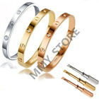 Men Women Silver Rose Gold Love Bangle Kylie Bracelet Screwdriver Christmas gift