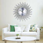 IK- Modern Large Metal Sunburst Analog Rhinestone Beaded Spikes Wall Clock Surpr